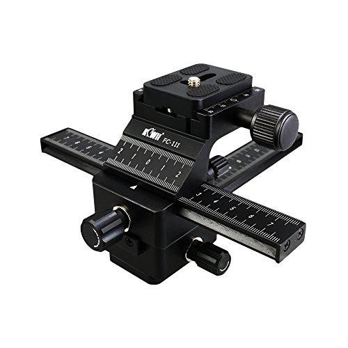 Kiwifotos fc-1ii Professionelle Einstellschlitten - 4-Wege Makroschiene Focusing Rail Slider mit Arca Swiss Schnellwechselplatte