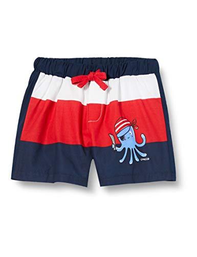 Chicco Baby-Jungen Costume Da Bagno Boxer Bimbo Boxershorts, Mehrfarbig (Rosso Blu 037), 86 (Herstellergröße: 086)