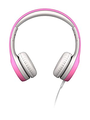 LilGadgets Connect+ Kids Premium Volume Limited Wired Headphones with SharePort (Children, Toddlers) - Pink by LilGadgets