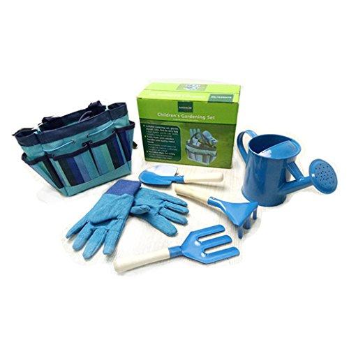 JOYKK Little Gardener Tool Set with Bag Kids Niños Jardinería Niños Chicas Regalo Juguetes - Azul