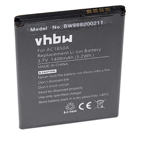 vhbw Li-Ion Akku 1400mAh (3.7V) passend für Handy Smartphone Telefon Archos 50c Neon