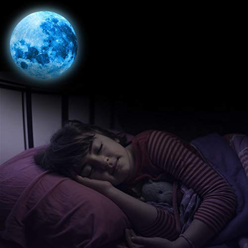 Tapete Mond Wandaufkleber Glühender leuchtender Mondplaneten-Raum-Wand-Aufkleber-Aufkleber im Dunkeln Glow-in-the-Dark Wall Stickers Luminous Fluorescent Sticker for Bedroom, Living Room