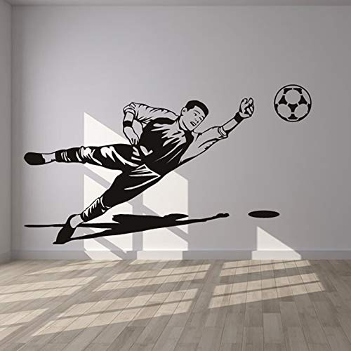 yaonuli Art Deco Sport Wohnzimmer Dekoration Fußball Torwart Wandaufkleber Dekoration Abnehmbare Wandaufkleber Aufkleber 87x48 cm