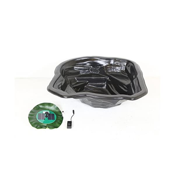 Starter Garden Pond Kit with Solar Floating Lily Fountain
