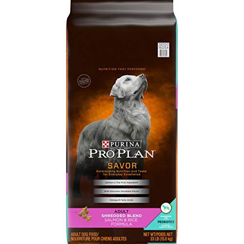 Purina Pro Plan With Probiotics Dry Dog Food, SAVOR Shredded Blend Salmon & Rice Formula - 33 lb. Bag (16054)