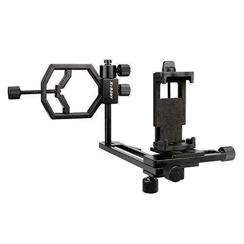 Svbony Teleskop Adapter Smartphone,Universal Teleskop Handy Adapter,360° Verstellbar Kamera-Telefonadapter für Teleskop Spektiv