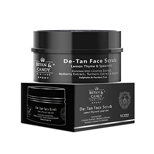 Bryan & Candy NewYork Lion Series De Tan Face Scrub For Men – 100 gm, Enriched with Licorice Extract, Mulberry Extract , Turmeric Extract & Oatmeal