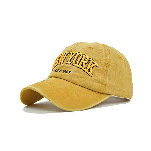 Yutdeng Cappello Uomo New York Vintage Cappellino Ricamo Berretto da Baseball Hip Hop Sport Cappellino retrò Cappellini con Visiera Ciclismo Running Donna Baseball cap