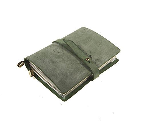 UNIQUE HM&LN Planer Terminplaner, Notizbuch Leder, Akademischer Monats mit Kalender Organizer Tagebuch zur Steigerung von Produktivität, Motivation, Geschenk für Mann & Frau(Grüne)