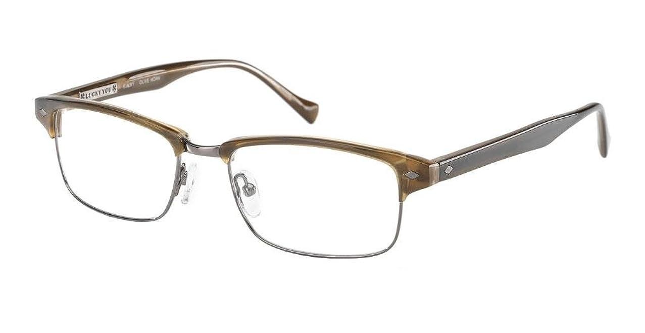 Lucky Brand Emery Eyeglasses Olive Horn