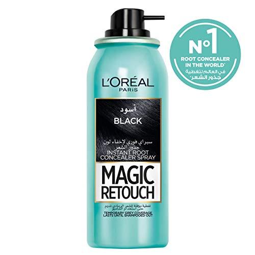 L'Oréal Magic Retouch Black, 75 ml (Pack of 2)