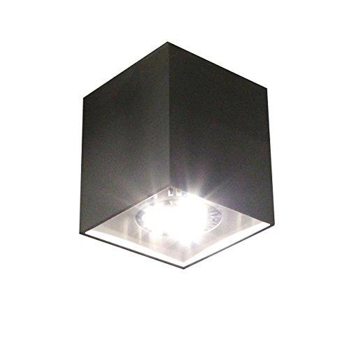 LED Aufbaustrahler Deckenlampe Deckenleuchte Strahler Downlight design Deckenstrahler flur GU10 CE 230v (Schwarz)