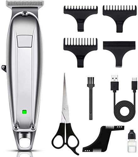 Hair Clippers for Men, MIGICSHOW Cordless Hair Trimmer Beard Trimmer Hair Clipper Cut Grooming Kit Rechargeable Professional Electric Hair Cutting for Men with 3 Combs & Beard Comb Low Noise Clipper