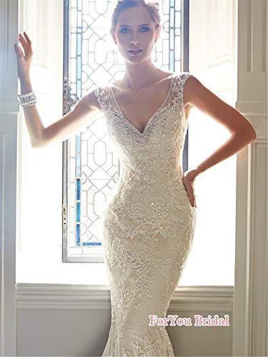 NUO-Z Hochzeitskleid, Frau Pronovias Elegant Braut Gown Hochzeits-Accessoherige V-Neck Meerjungfrau...
