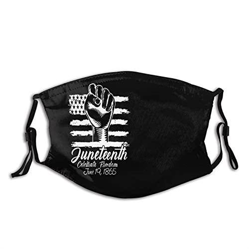 WXM Juneteenth Day Bandera Negro Orgullo al aire libre máscara anti-polvo media cara niños adolescentes hombres mujeres amantes pendientes ajustables a prueba de polvo