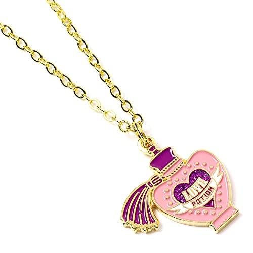 Harry Potter Collar oficial de la poción del amor chapado en oro