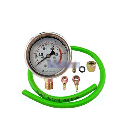 Read About HNIWDJ Engine Fuel System Turbocharger Turbo Oil Pressure Gauge 0.1Mpa Tester Diagnosis S...