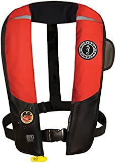 Mustang Survival Corp Inflatable PFD with HIT (Auto Hydrostatic) and Bright Fluorescent Inflation Cell