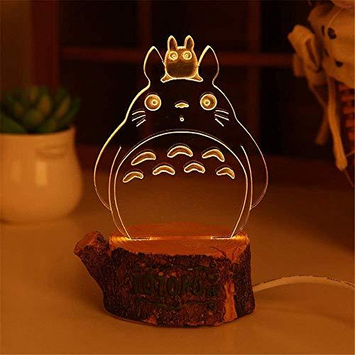 HUANXI My Neighbor Totoro Night Light Studio Ghibli Craft Lmpara de Noche USB Decorativa para el hogar Dormitorio Decoracin de la Sala Los Mejores Ao Nuevo,01