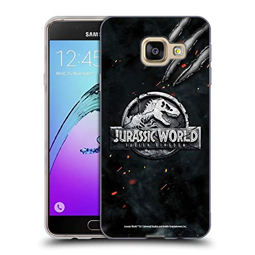 Head Case Designs Ufficiale Jurassic World: Fallen Kingdom Dinosauro Artiglio Logo Cover in Morbido Gel Compatibile con Samsung Galaxy A3 (2016)