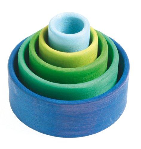 Grimms GmbH-Lot de bols en différentes versions blau-grün