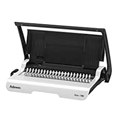 "Manually punches up to 15 sheets of paper at a time Binds up to 150 sheets with a 3/4"" comb Enhanced accuracy edge guide centers documents with ease for pinpoint punching Loads vertically for accurate punch alignment Built-in comb storage tray with i..."