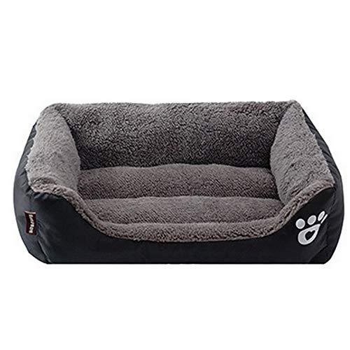 Sofá cama para mascotas ultrasuave y transpirable para mascotas, para mascotas, perros, gatos, mascotas, cálidos, canasta, colchoneta para perro o mascota medium negro