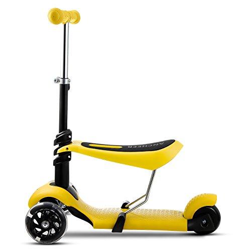 AMDirect Trottinette à Trois Roues - Vélo et Véhicule pour Enfant (jaune)