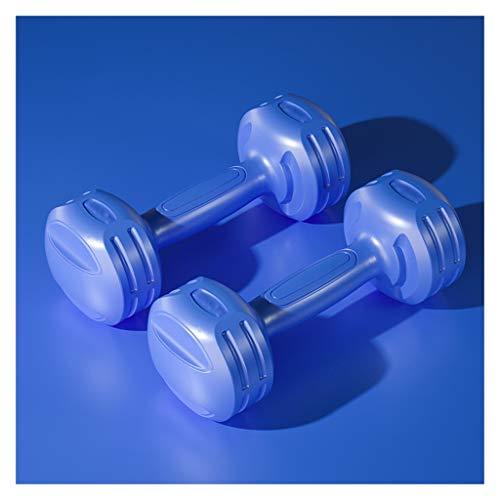 OMING Mancuernas Mancuerna señoras de aparatos de Ejercicios un par de 2 kg / 4kg Yoga Culturismo pequeño Pesas Mancuernas de Ejercicio y Fitness (Color : Blue, Size : 2kg × 2 Pieces)