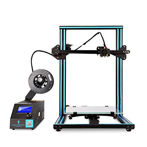 CR-10S Pro FDM 3D Printer Creative, Nivellement automatique Capricorn PTFE double extrudeuses Engrenages, 300x300x400mm, PLA ABS, pour les hobbyistes, les concepteurs et les utilisateurs à domicile