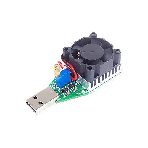 ANGEEK 15W USB Last Widerstand DC 3,7-13 V Einstellbare Konstantstrom Elektronische Lastentlader Batterie Kapazität Test Meter mit Lüfter