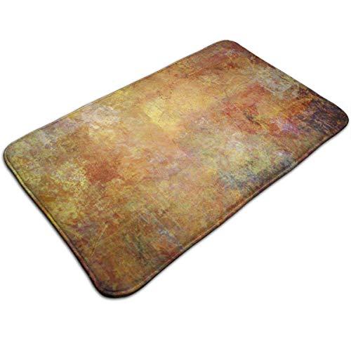 AoLismini Alfombra de baño de Felpa, Pintura marrón Pintura Abstracta Medios de rasguño Mixtos Color Tonos de la Tierra Diseño Alfombra de baño con Respaldo Antideslizante