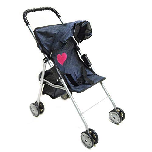 Image of the My First Doll Stroller Denim for Baby Doll