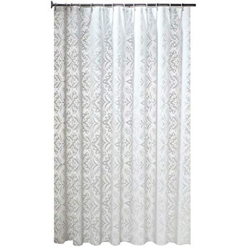 cortinas de baño blanca y azul