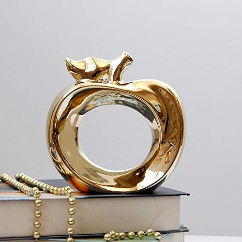 Big Face Cat eenvoudige keramische appeldecoratie voor een eenvoudige inrichting. Eén maat goud