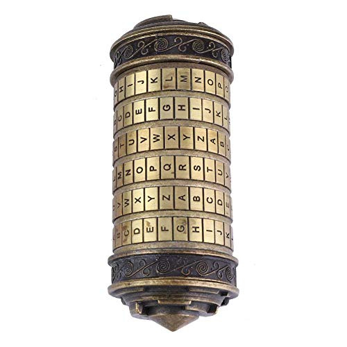 Crisis Cadeado de código da Vinci, presentes românticos, 13 cm, 15 cm, 23 cm, faça uma grande surpresa para o seu amado em anotações da loja, poemas, joias, chaves, outros objetos de valor