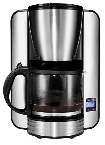 MEDION Kaffeemaschine mit Timer (1080 Watt, 1,5 Liter Fassungsvermögen, 12 Tassen, Tropf-Stopp, MD 16230) Edelstahlgehäuse