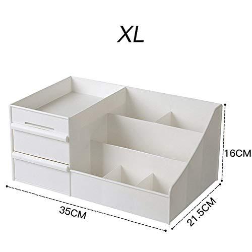LKU Storage Box Cosmetica opbergdoos lade make-up opbergdoos dressoir huidverzorging rek behuizing container