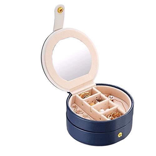 ZCJUX Caja de joyería de viajes pequeños, Mini organizador de viaje Pantalla portátil Funda de almacenamiento for anillos Pendientes Collar, mejores regalos Elección for niñas mujeres ( Color : C )
