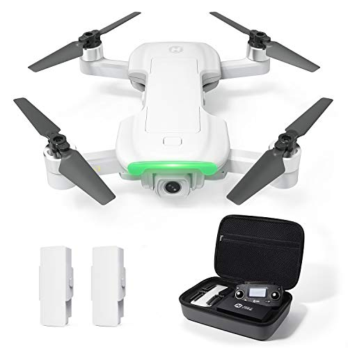 Holy Stone HS510 GPS Drone Ultralight for Adults with UHD 4K WiFi Camera Anti-Shake, FPV Quadcopter Foldable for Beginners with Brushless Motor, Return Home, Follow Me, 2 Batteries and Storage Bag