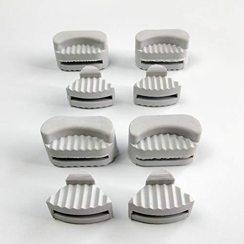 8 almohadillas de goma para juntas de esquina Juki Ddl-5550 8500 Brother Consew Singer para máquina de coser industrial sumidero y sartenes de aceite
