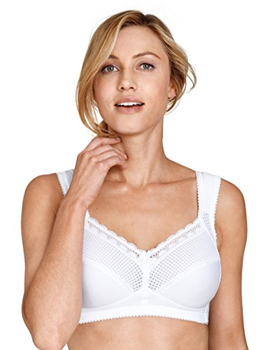 Miss Mary Of Sweden Diamond Women's Full Cup Supportive Non-Wired Bra White