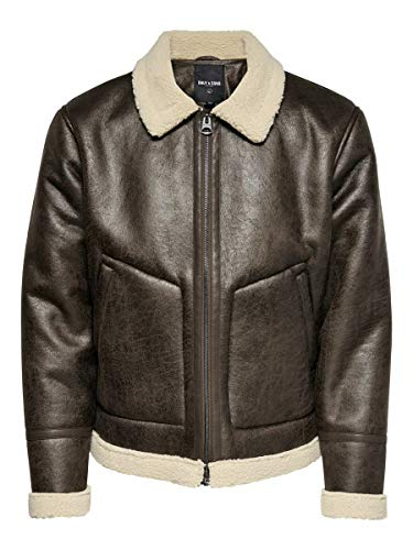 ONLY & SONS Male Jacke Kunstleder XLChicory Coffee