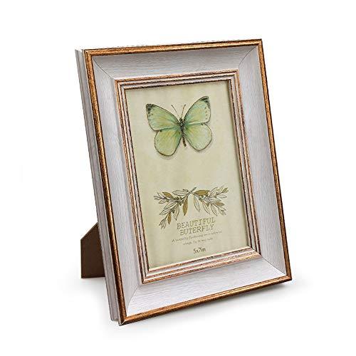 Afuly 13x18 Bilderrahmen Weiß in Gold Retro Vintage Antike Shabby Fotorahmen Tabelle Oder Wand Family Eltern Geschenk
