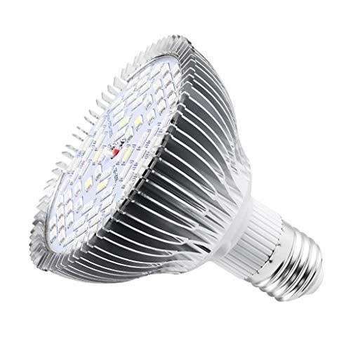 WYNA LED Pflanzenwachstum Licht, E27 Künstliches Sonnenlicht wachsen Licht, 30W 50W 80W wachsen Glühbirne, für Garten-Blumen Gewächshaus hydroponischen Nursery,50w