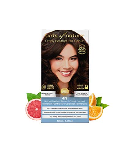 Tints of Nature 4N Natural Medium Brown Permanent Hair Dye, Single