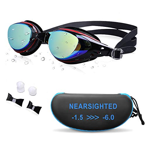 Aikotoo Corrective Optical Swimming Goggles That Fit With Glasses