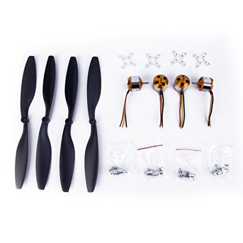 Generic 4X Moteur A2212 / 13t 1000kv Brushless + 4X 1045 Hélices pour F550 DJI De F450