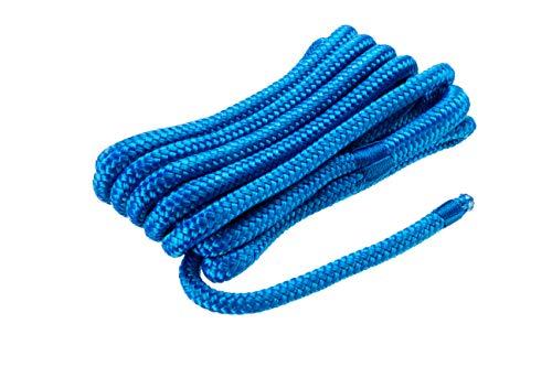 "Premium Double Braid Dock Line BLUE 3/8"" x 15'"
