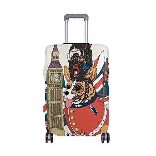 ALINLO Corgi - Copertura per valigia da viaggio con bandiera inglese e corgi, Multicolore (Multicolore) - wllkn365898bz